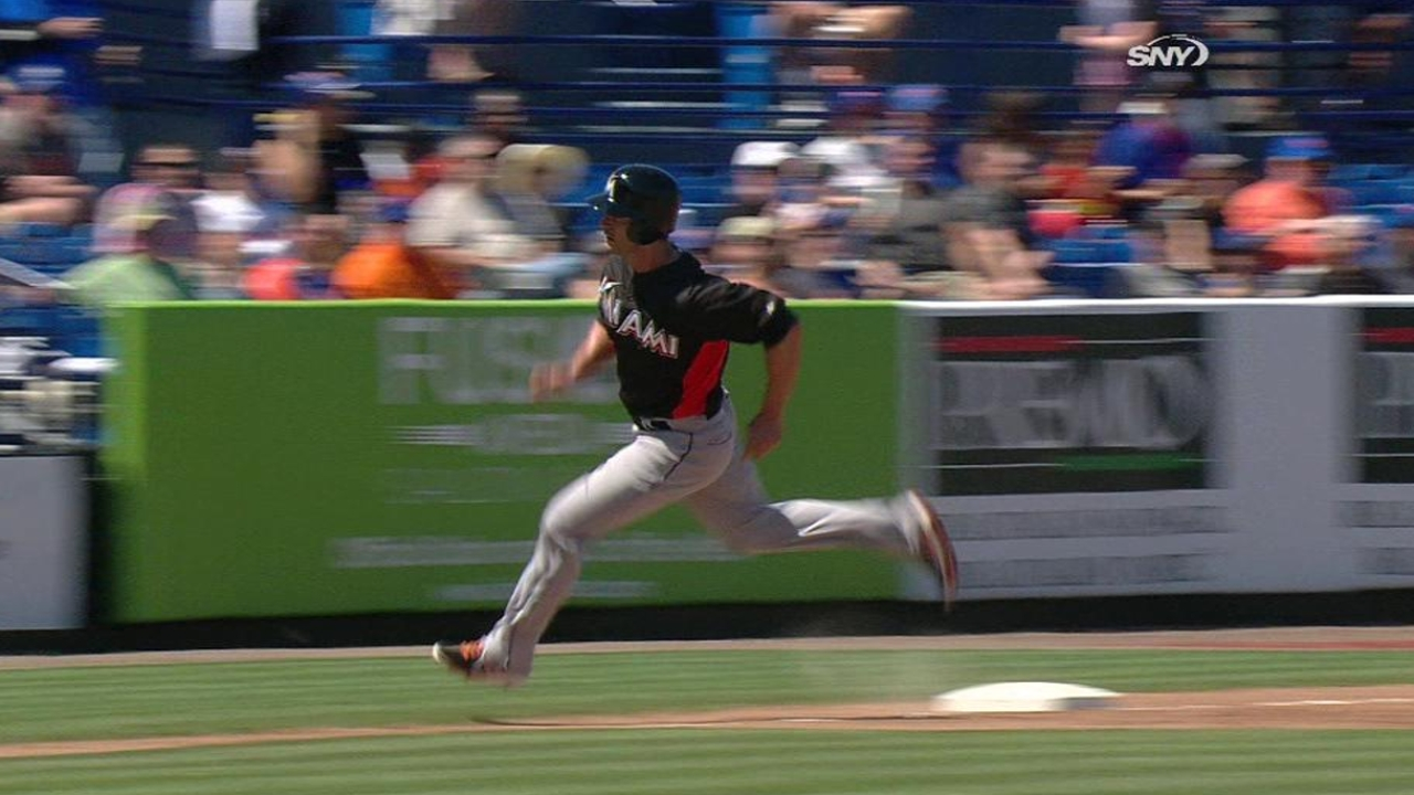 Polanco returns with two hits as Marlins win