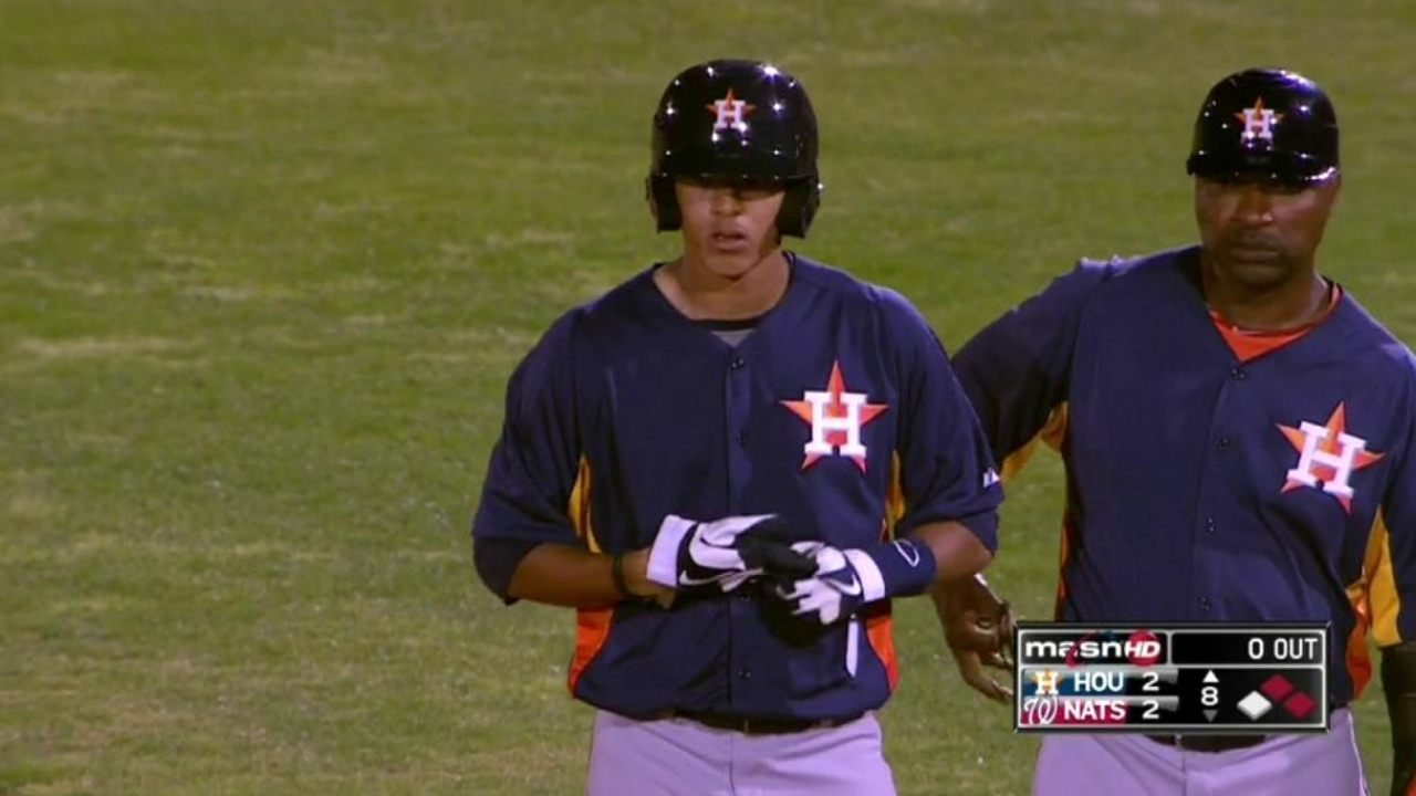 Touted Astros prospects impress in first MLB action