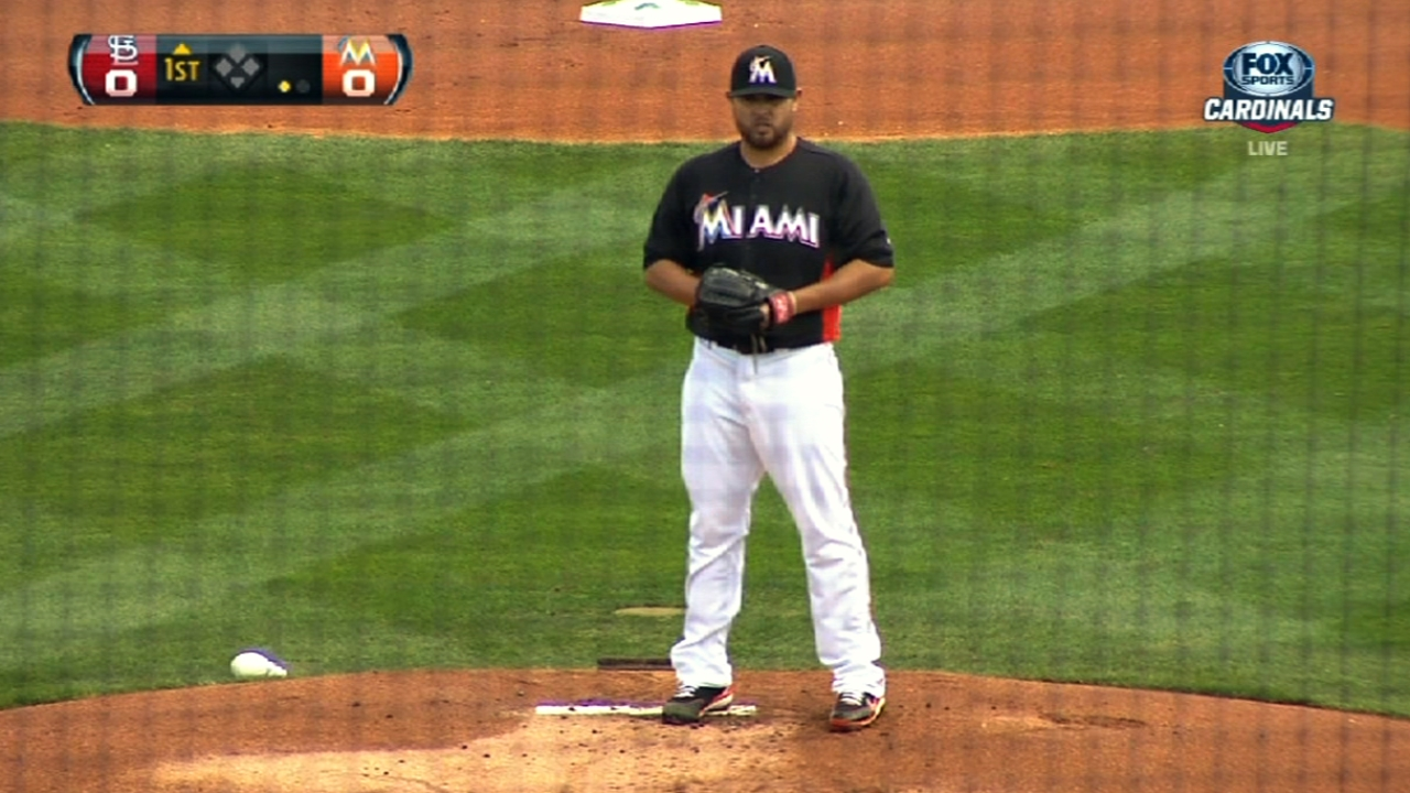 Nolasco impressive in six as Marlins top Cardinals