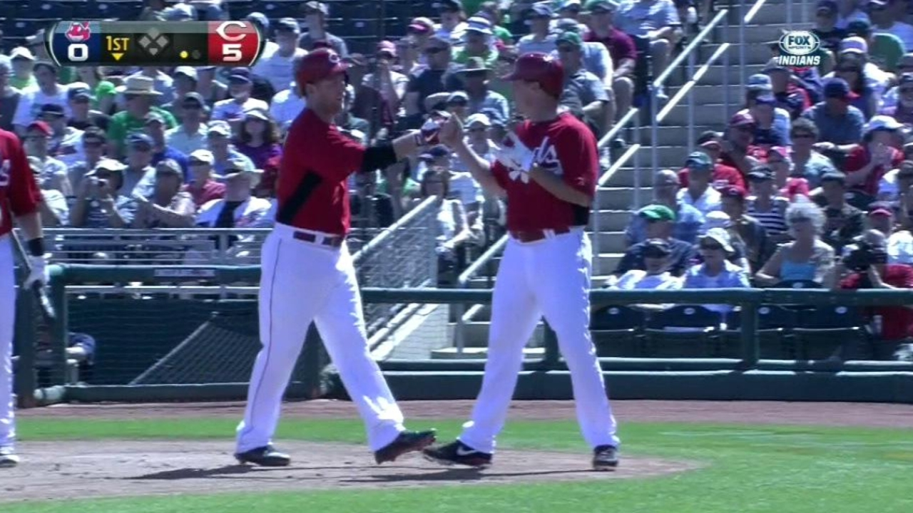 Frazier making strides with bat and glove in spring
