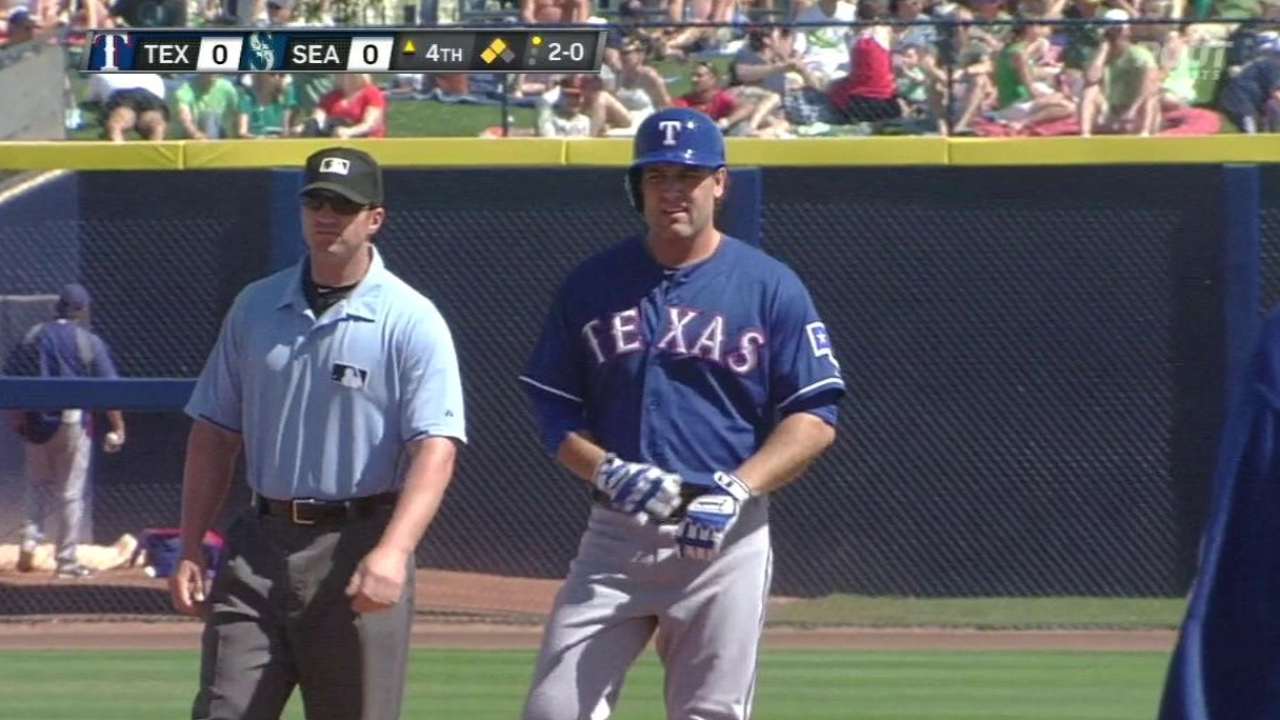 Kirkman looks sharp as Rangers fall to Mariners