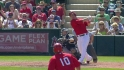 Trout&#039;s two-run triple