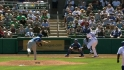 Soler legs out infield single