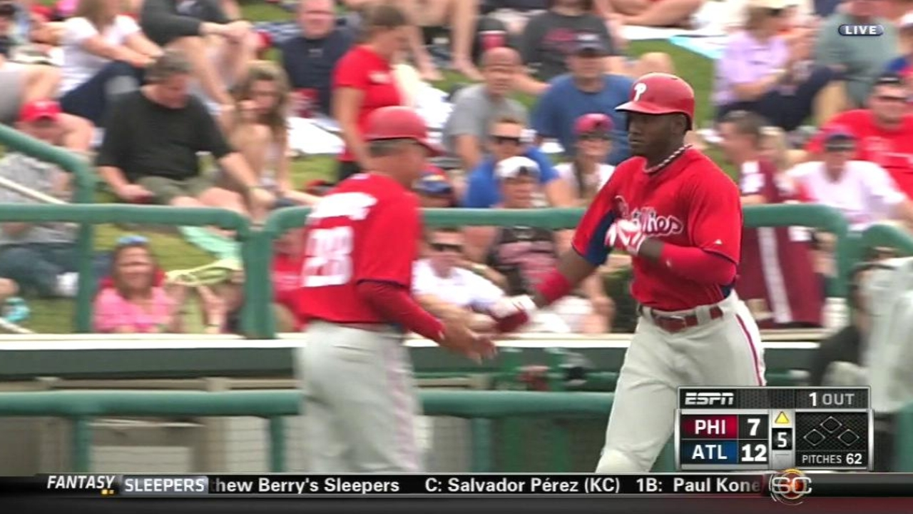 Brown hits fifth Spring Training homer for Phillies