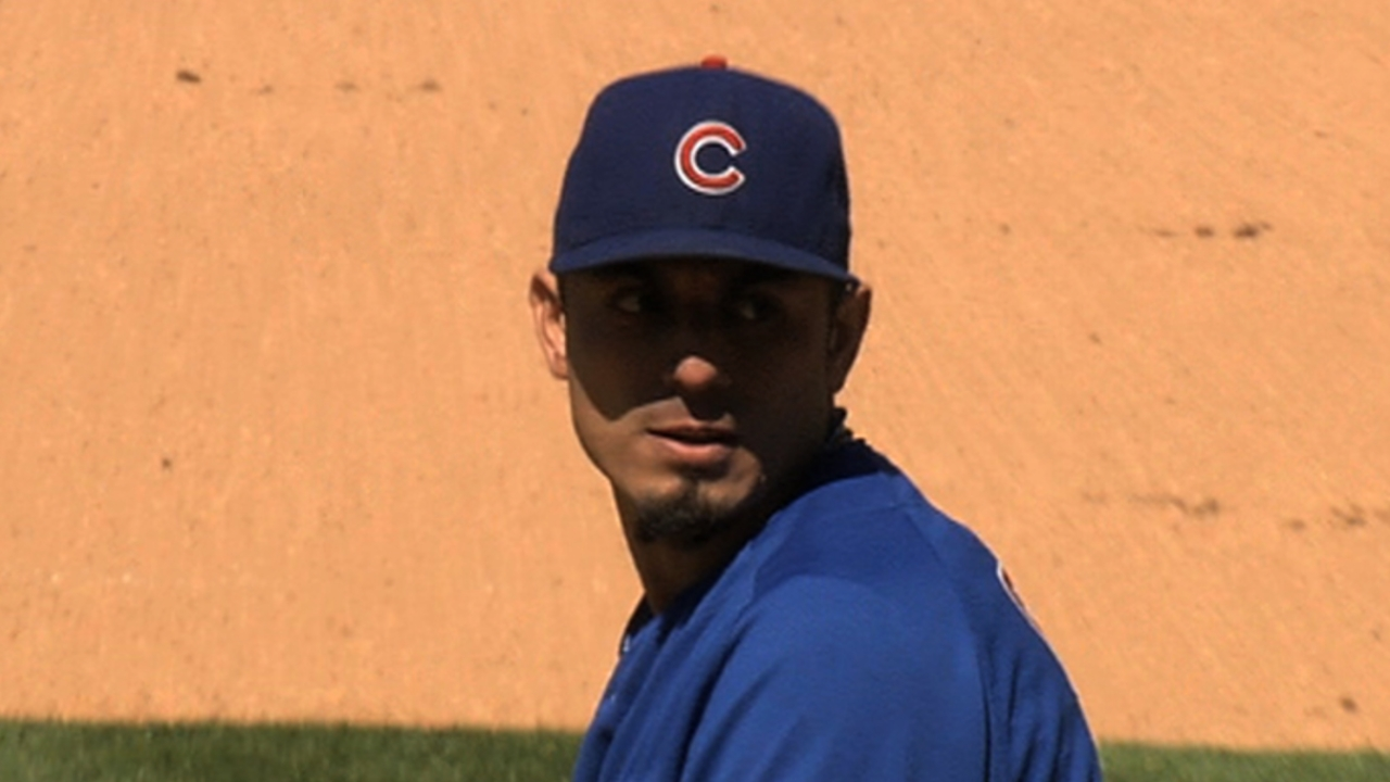 Back with Cubs, Garza eyes May return