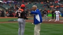 Alou, Meulens throw first pitch