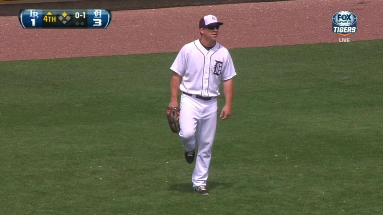 Dirks plays outfield in Minor League game