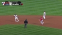 Dominican turns nice double play