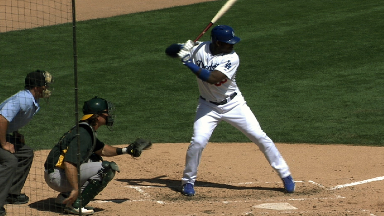 Needing outfield help, Dodgers hope Puig is spark