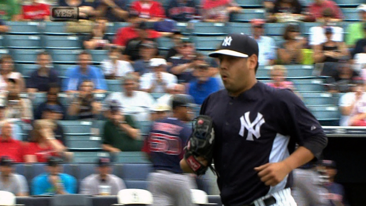 Nuno fires five shutout frames in Yanks' win
