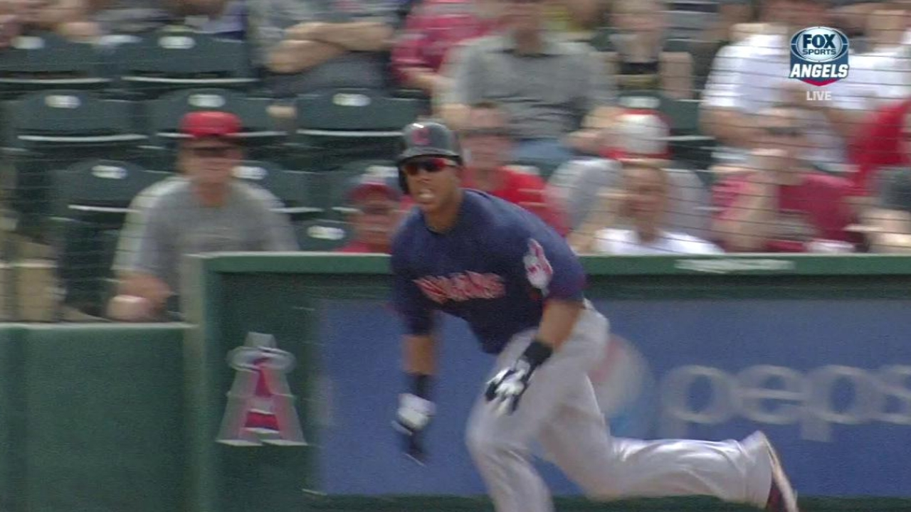 Brantley's three hits pace Indians against Halos