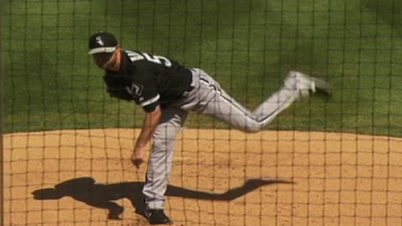 Danks gets work in against Minor Leaguers
