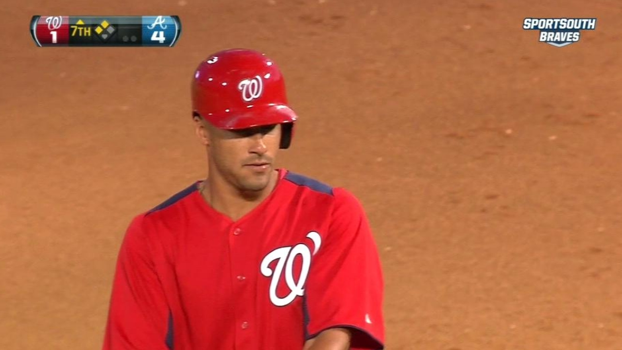 Nationals' offense comes alive late vs. Braves