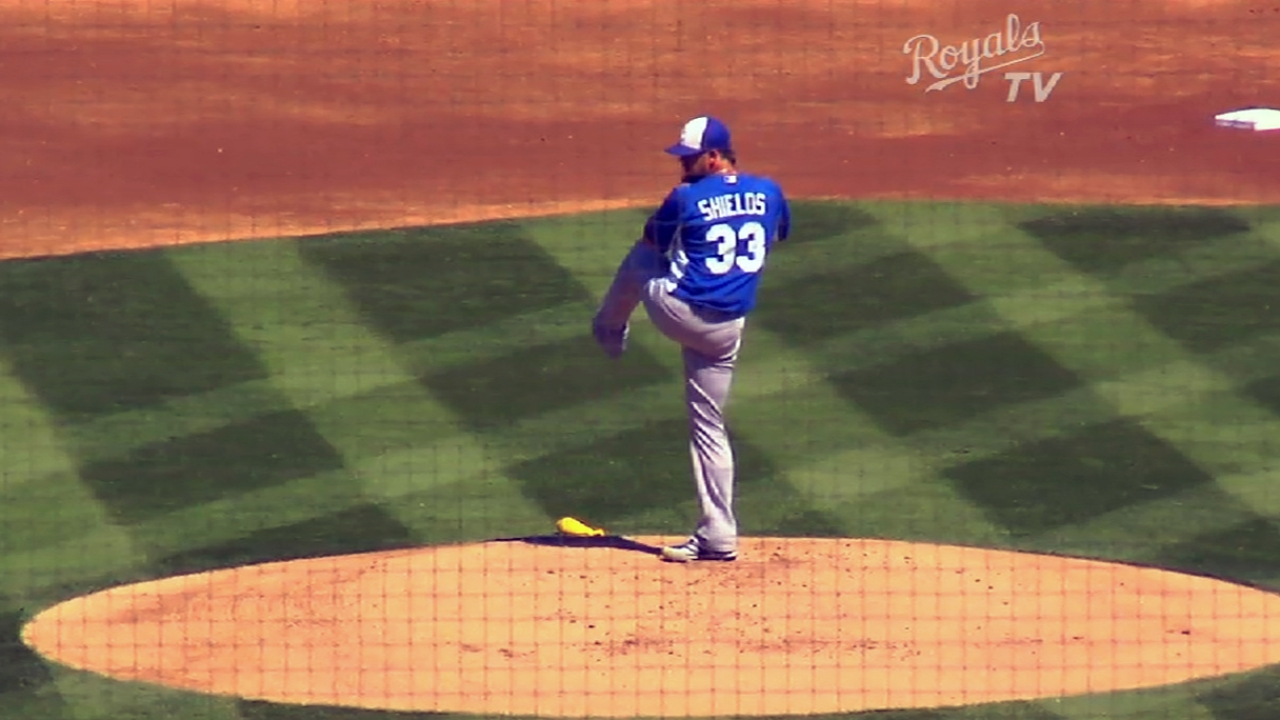 Royals name Shields Opening Day starter