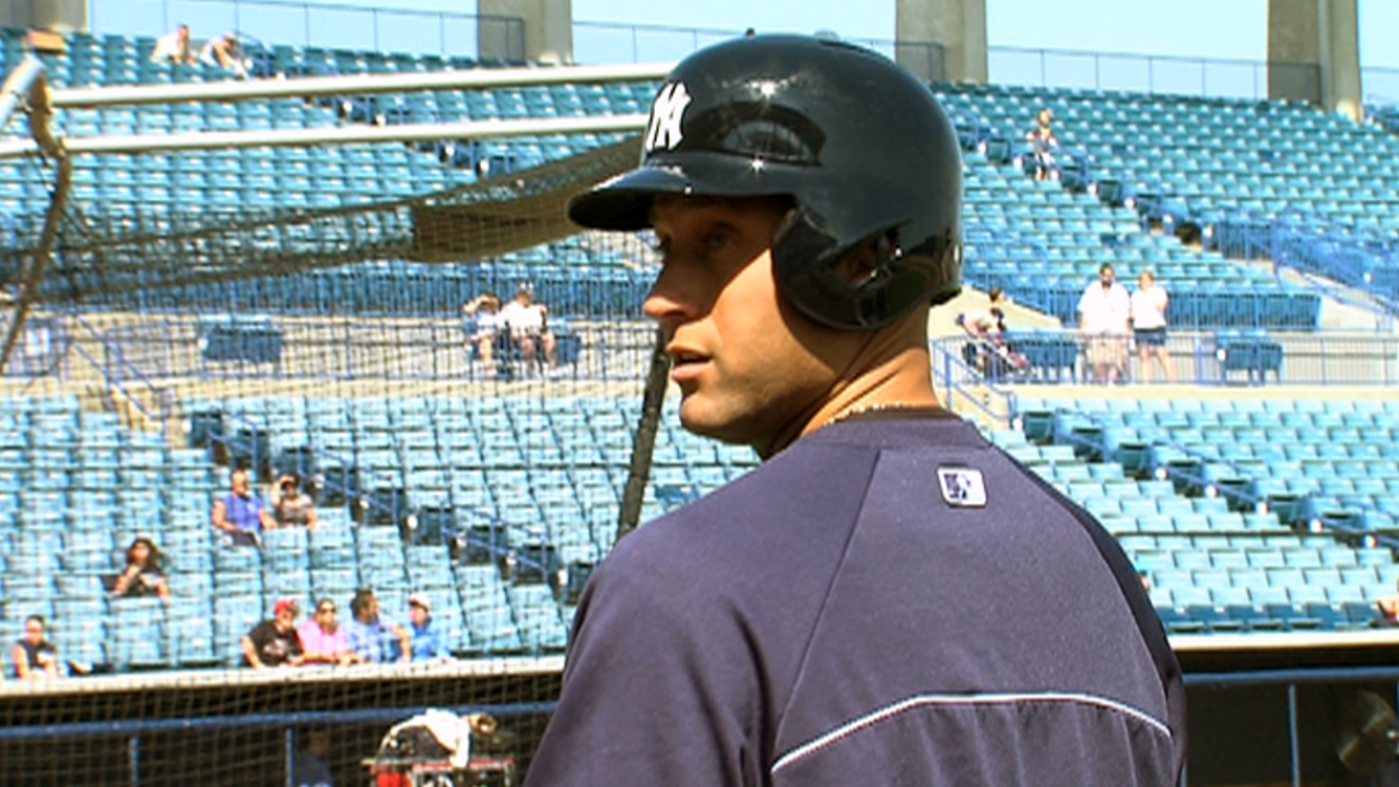 Jeter tests ankle, not worried about missing games