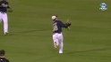 Gyorko's over-the-shoulder catch