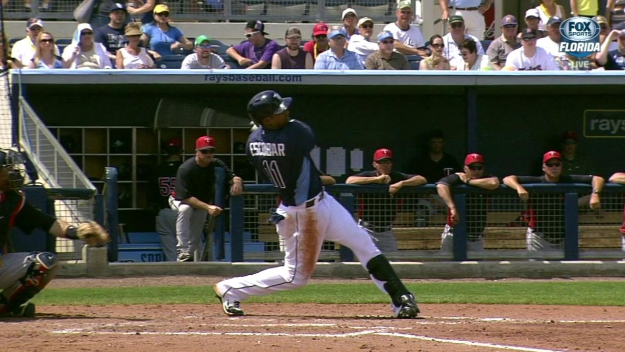 Escobar starting off on right foot with Rays