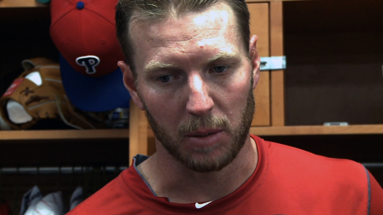 Halladay feels fine after mixed results in Minors