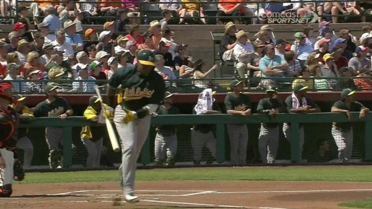 Cespedes kicks off barrage against Giants
