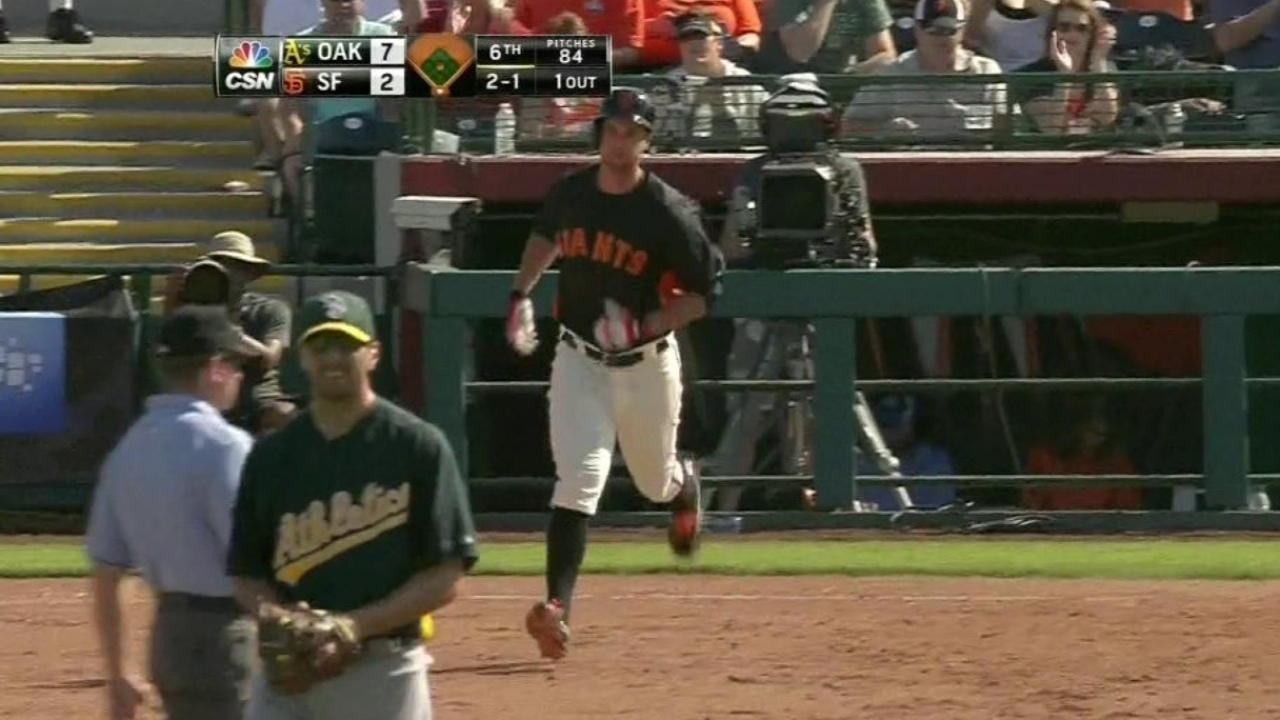 Lincecum dinged for five runs against A's