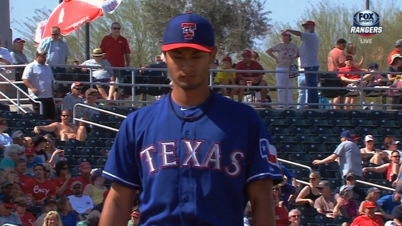 Darvish looks regular-season ready against Reds