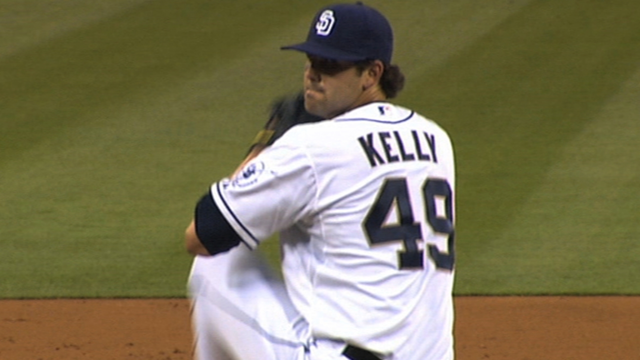 Kelly returns to San Diego to start elbow rehab