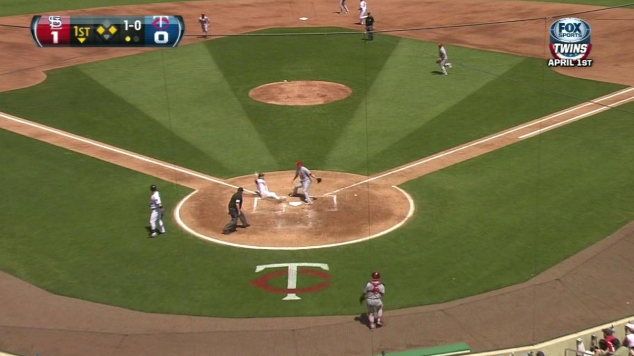 Carroll adjusting to limited role with Twins
