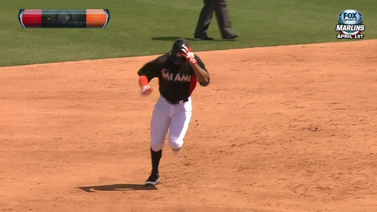 Stanton belts two to power Marlins past Nats