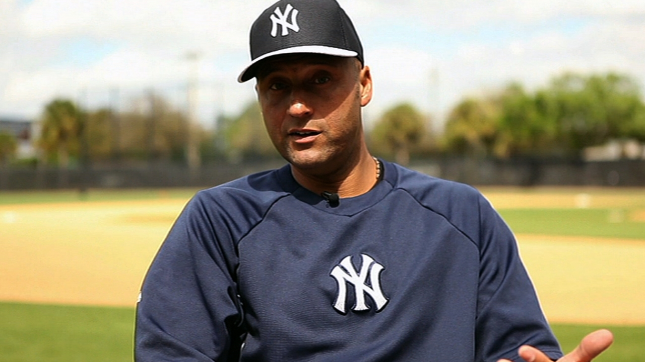 Jeter plays catch; Hughes works seven frames
