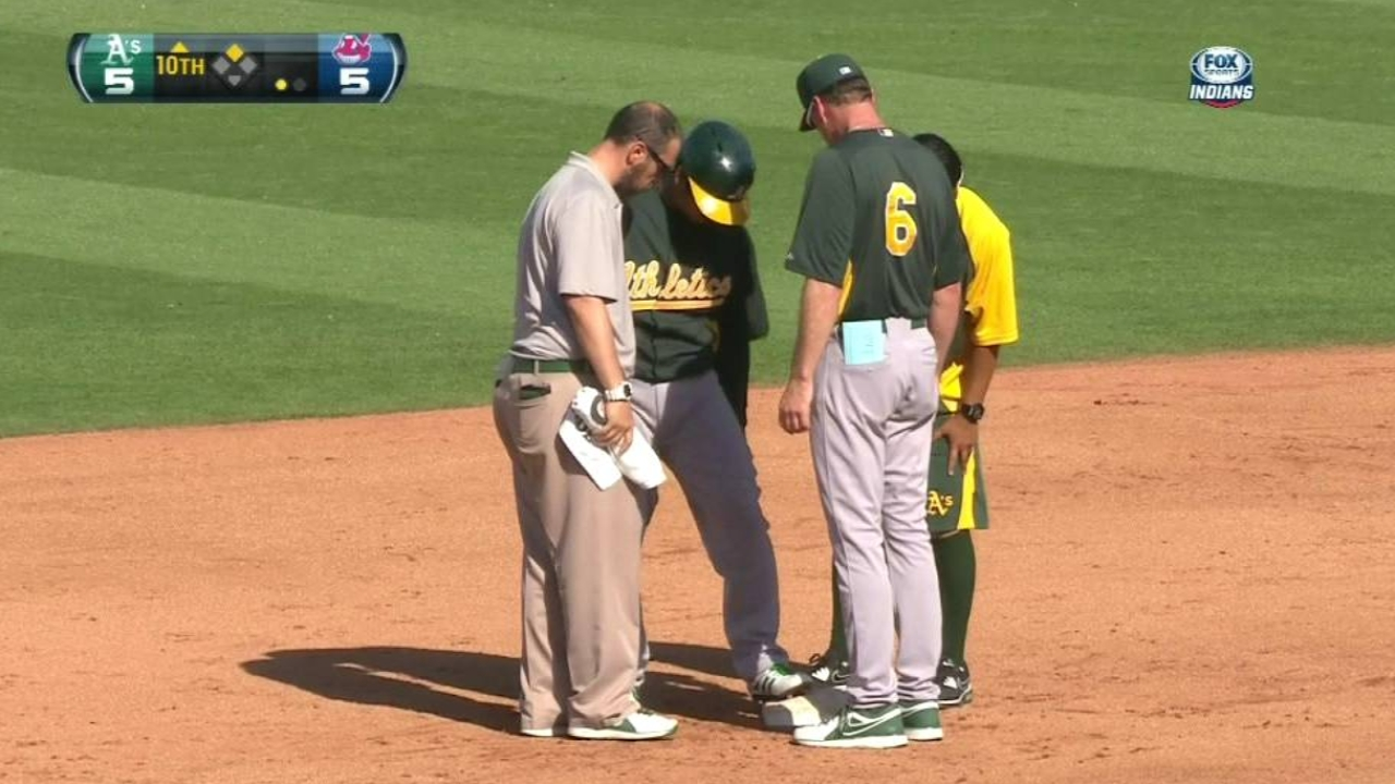 Melvin gives the lowdown on injured A's