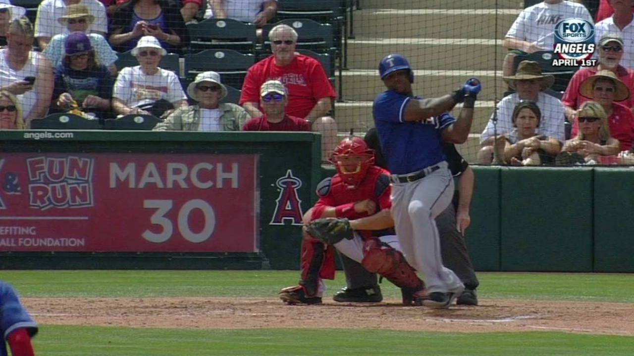 Beltre paces Rangers' offense against Angels
