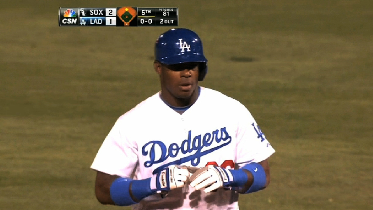 Puig goes 3-for-3, homers as LA drops KC