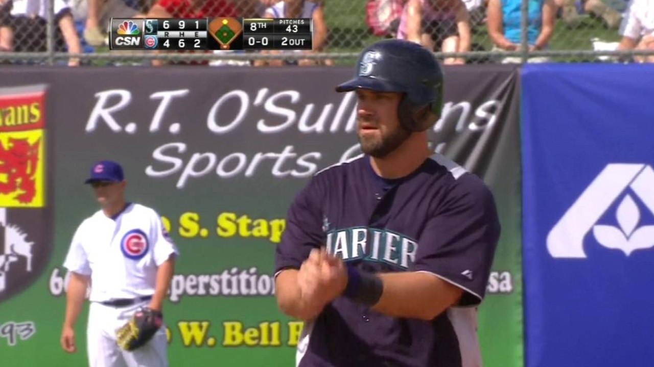 Shoppach, Morse provide pop in Mariners' victory