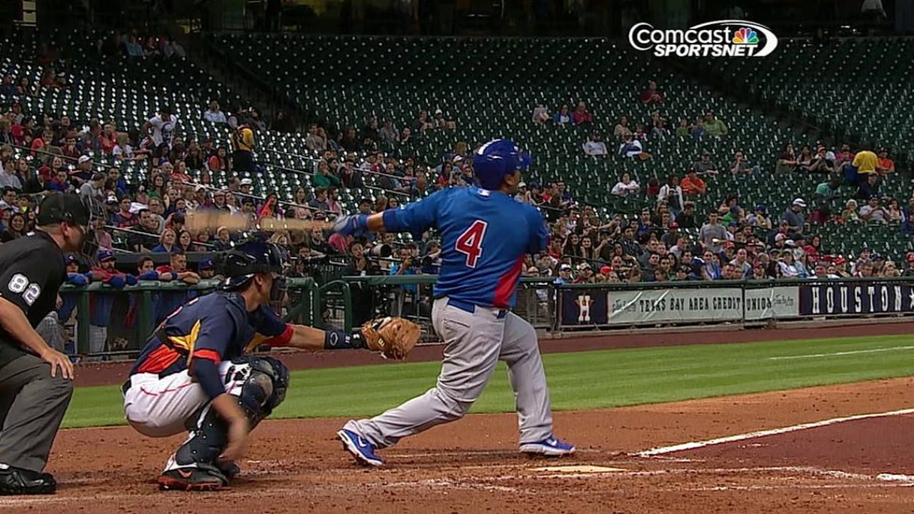 Navarro homers as Cubs draw with Astros