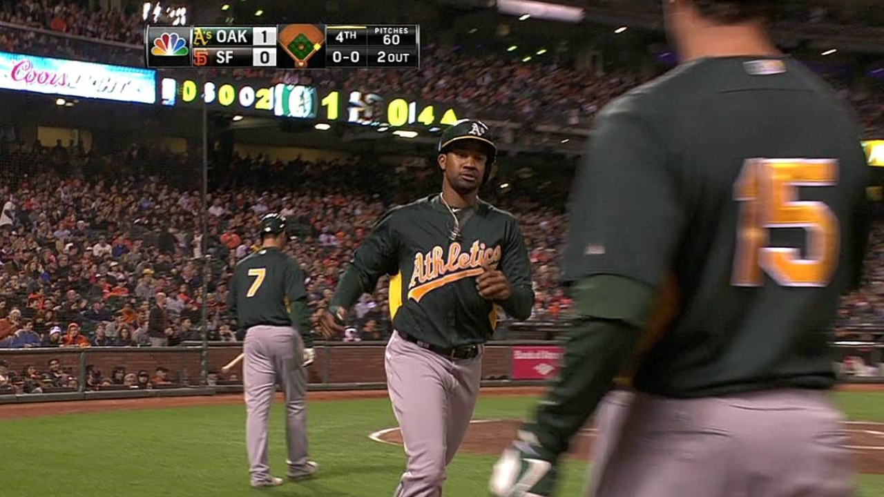 Griffin looks sharp as A's fall to Giants