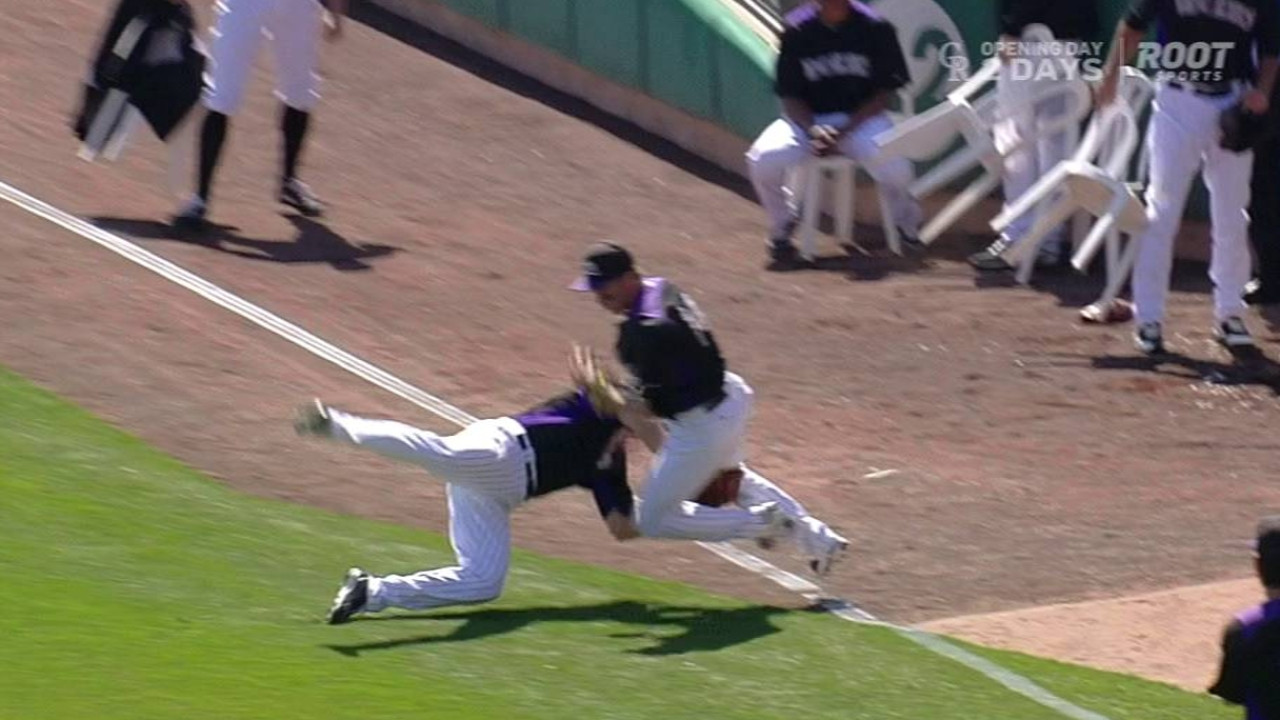 Rutledge OK after collision with Cuddyer