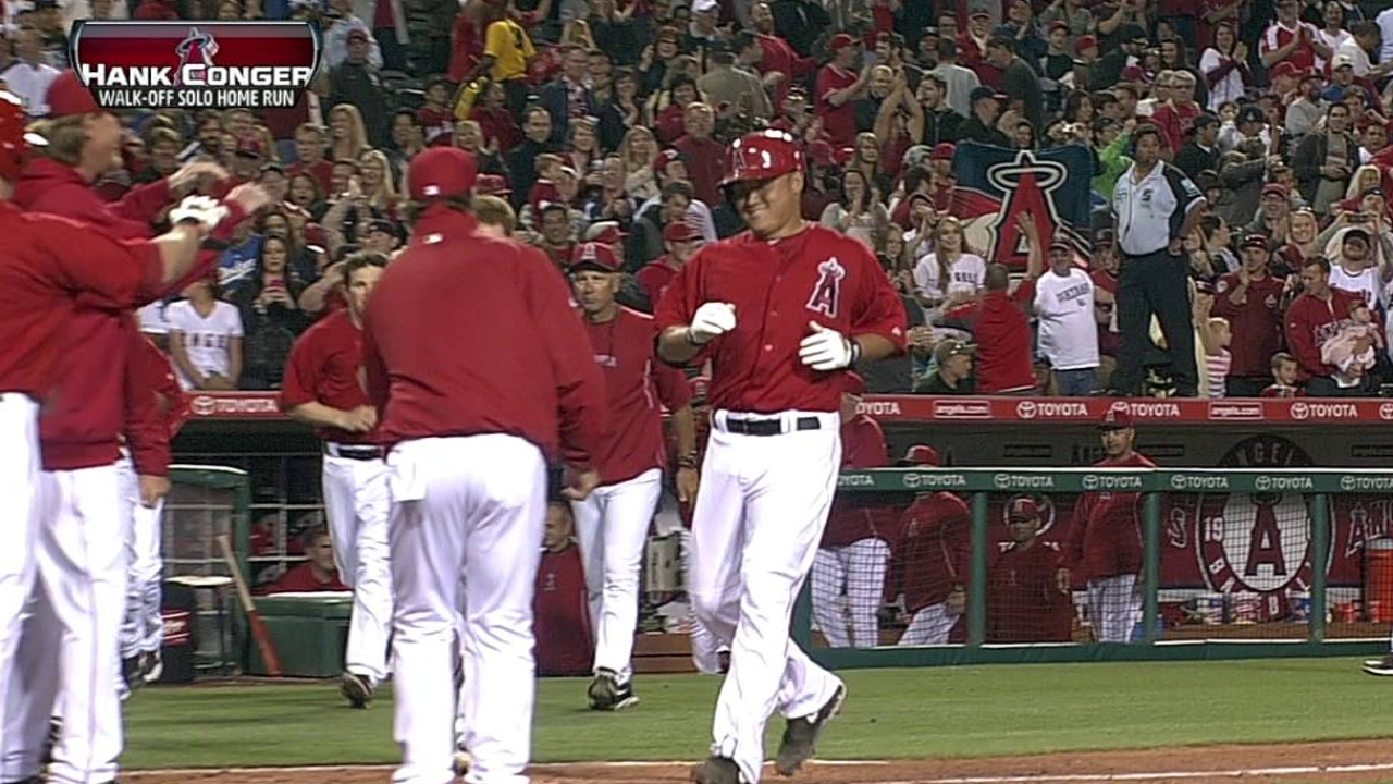Angels wrap spring on Conger's walk-off homer