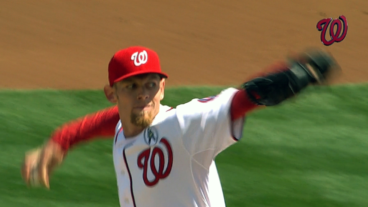 Strasburg impresses old friend Peavy