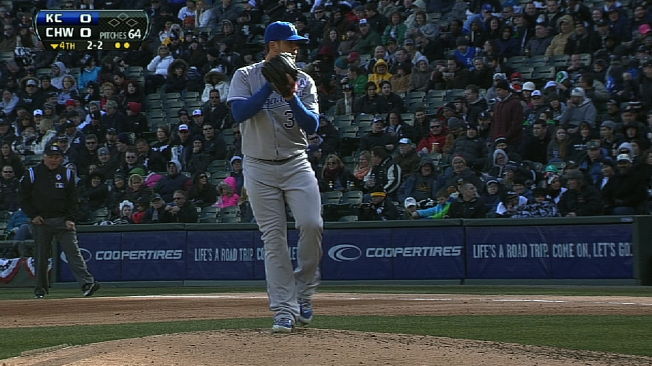 One mistake costs Shields, Royals in opener