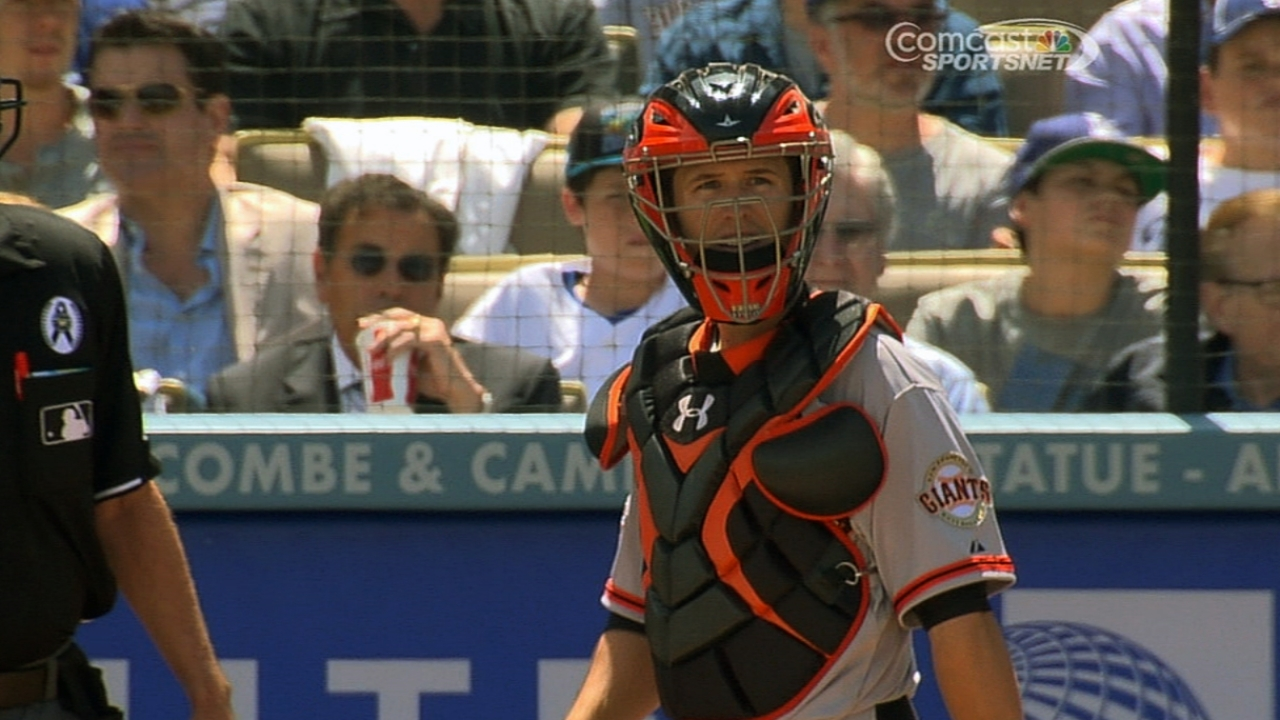 Posey plays first in Lincecum's season debut