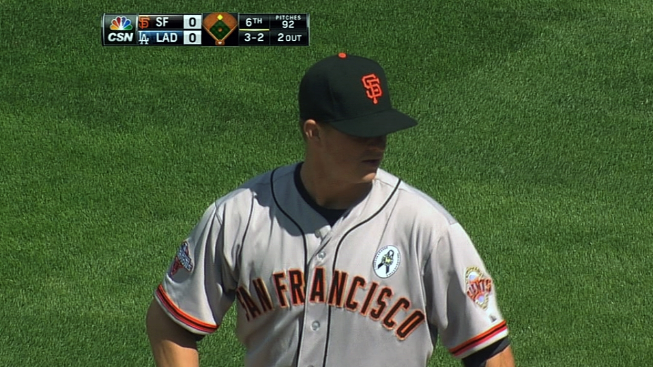 Giants stymied by Dodgers ace in opener