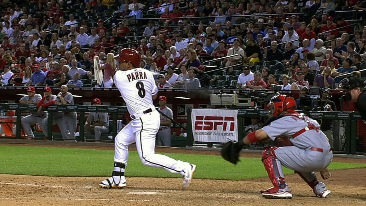Gibby leaves leadoff role in Parra's hands