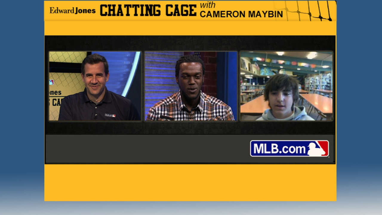 Maybin shares father's influence in Chatting Cage