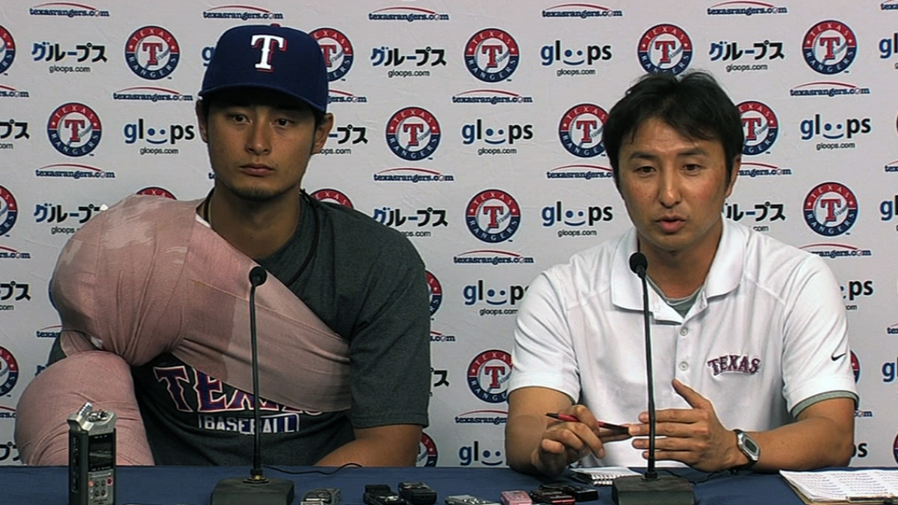 Darvish chases history past pitch count