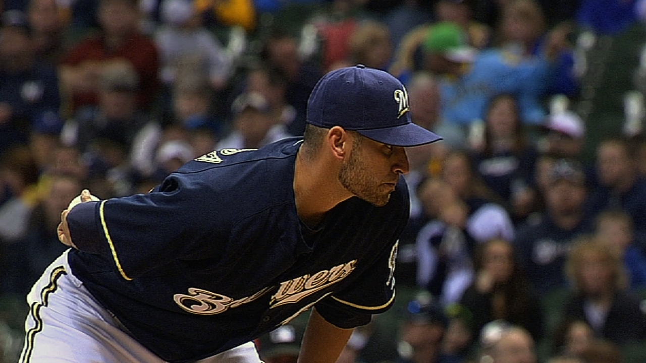Brewers pitched to record extremes vs. Rockies