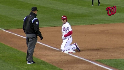 Zimmerman races around the bases