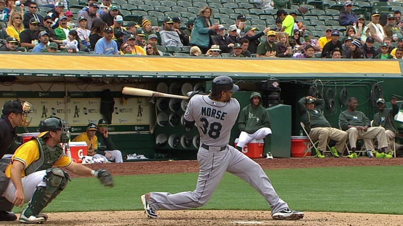 Morse goes deep again, but Mariners fall to A's