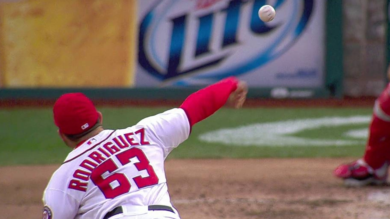 Reliever Rodriguez sharp in season debut