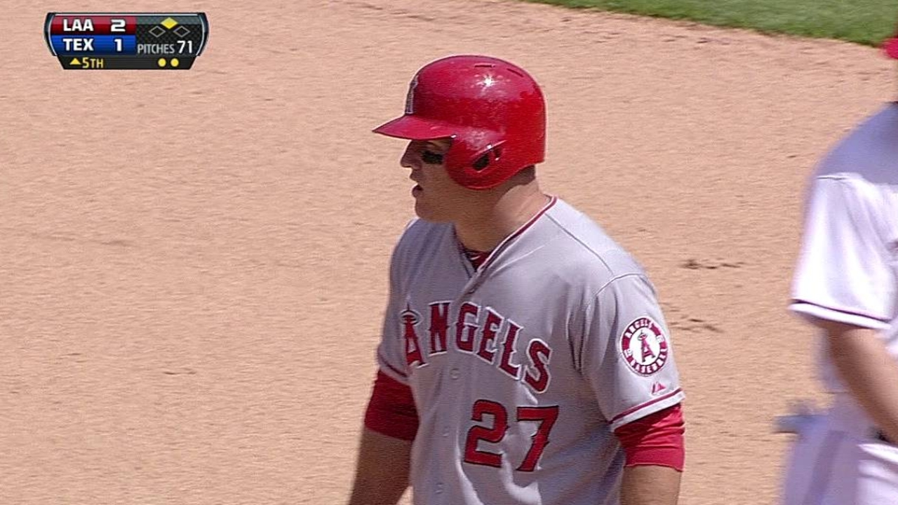 To spark offense, Trout batting second