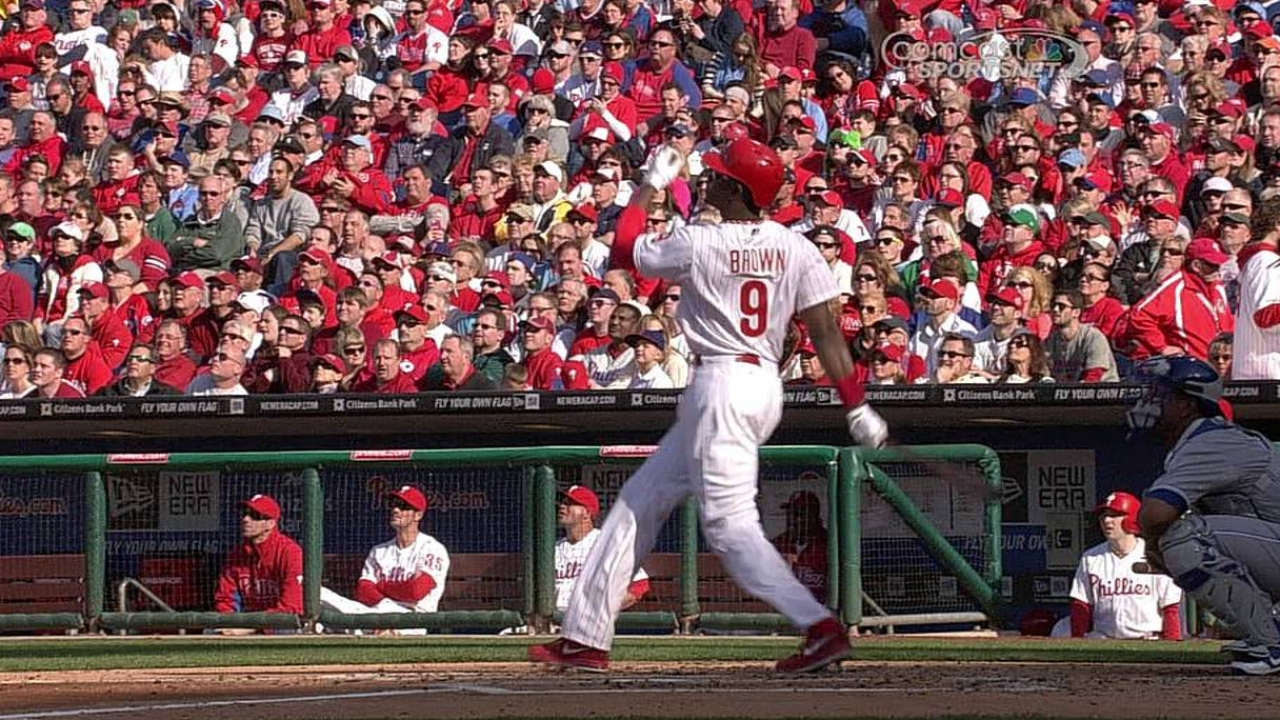 Phils can't hold lead in home opener vs. Royals